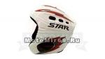 Шлем горнолыжный STAR S1-10 (шлем с клипсой для очков Белого цвета с серо-красными наклейк)