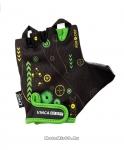 Перчатки вело детские, ROBOCOP, гелевые вставки,цвет черный, размер 6XS