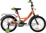 Велосипед 20 NOVATRACK VECTOR (защита А-тип, торм.ножной, крылья и баг.черный) 133950, оранжевый