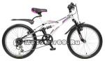 Велосипед 20 NOVATRACK DART (2х.подвесный,МТВ,6ск,рама сталь,Shimano, V-brak) (085335) черный