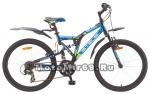 Велосипед 24 STELS MUSTANG (2х.под,18ск,рама 16,аморт.вилка сталь,AL обода дв,торм.V-тип) V030