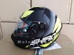 Шлем интеграл SHIRO SH-890 INFINITY, размер M, (1уп =6 шт) (красный, желтый, белый)