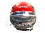 Шлем открытый Safelead LX-256 колобки с доп. стеклом красный M