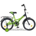 Велосипед 16 FR-10 NOVATRACK (1ск,складной, томоз нож.) зеленый