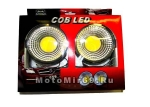Фара светодиодная, круглая, c кронштейном, 10V-30V 3W, технология COB LED