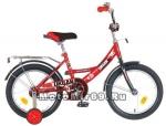 Велосипед 18 NOVATRACK URBAN (1ск,рама сталь,тормоз нож.,цвет.крылья, баг.хром) 107106 красный