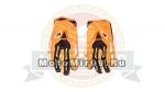 Перчатки PRO-BIKER CE-03 текстиль с пальцами ладонь противоскольз. ткань, оранжевые