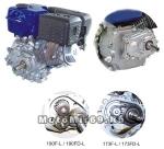 Двигатель LIFAN 6,5 л.с. 168F-2BH (200), с редуктором 1:6 вал 20мм.