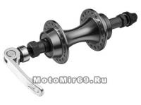 Втулка задняя SHUNFENG ROAD алюминиевая под трещотку (6-8 ск)3/8x14Gx36Hx135x145 с эксцентриком чёрн