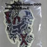 Наклейка Надпись FOX,череп и черные розы (стиль тату) (GPA 5638) большая