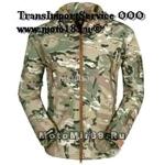 Куртка водонепроницаемая камуфляжная с капюшоном, есть утепленный подклад