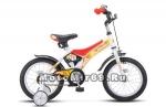 Велосипед 14 STELS JET (1ск.,рама 8.5,торм.перед.руч.клещевой,звонок,корз.) белый/красный