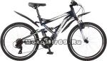 Велосипед 24 STINGER VERSUS (2х подвес.,21ск,рама 16,5,торм.V-br,TY10/TY300/EF41) синий 117383