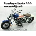 Модель мотоцикла хендмейд, с американским флагом на баке М17