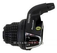 Шифтер Shimano Tourney, RS35, лев, 3 скор., тр. 1800мм