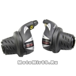 Шифтер Shimano Tourney, RS36, лев/пр, 3(Frict)x6ск), тр.