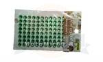 Стразы (набор кристаллов), 11x8 (=99) штук - на липкой основе, для декора авто/мото, зеленые