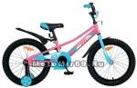 Велосипед 18 NOVATRACK VALIANT (защита цепи, торм.ножной,корот. крылья, нет багаж.) 133930, фуксия