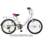 Велосипед 20'' NOVATRACK ANCONA (6-скор, TY21/RS35/SG-6SI, V-brake) 124563, белый