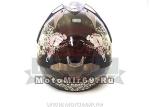 Шлем кроссовый YM-911-LYAMAPA СО СТЕКЛОМ, размер XL,Черный DANGER KEEP OUT(СНЯТ С ПР-ВА)