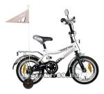 Велосипед 12 NOVATRACK TAXI (тормоз 1 руч.нож,крылья и багаж.хром.,гудок и зерк) черн/бел 038292