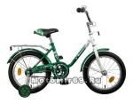 Велосипед 16 NOVATRACK MAPLE (торм.нож,крыл. цвет, баг. хромир, пер.корзина) зеленый