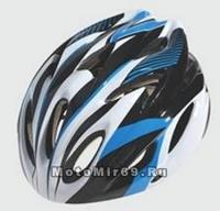 Шлем вело CIGNA WT-066, размер M/L (57-62 cm) (черно-бело-красный)