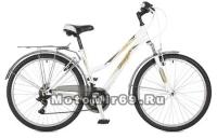 Велосипед 26 STINGER VICTORIA (18ск,рама 15, 17алюм.,торм.V-Brake,TZ30/TY21/TS-38) белый