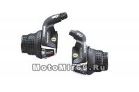 Шифтер Shimano Tourney, RS35, лев/пр, 3x6 скор., тр.+оплетк