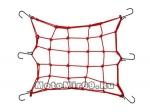 Сетка для крепления багажа красная (4мм, 30х30см) мет.крючки RSCN-001