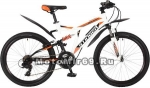 Велосипед 24 STINGER HIGHLANDER 200 V (2х.подв.,18ск,рама 16,5сталь,торм.V-br) белый