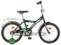 Велосипед 12 NOVATRACK TWIST (1-ск, тормоз нож.,крылья цвет,багажник хр) 117054 черный