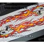 Наклейка Узор типа пламени 140х90
