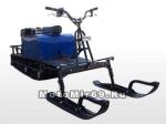 Лыжный модуль М-2 для мотобуксировщика Лидер (седло на капот в комплекте) (Для Адаптивной подв)