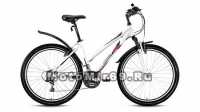 Велосипед 26 FORWARD JADE(SEIDO) 1.0 (18 ск,рама 15алюм.,Hard tail,торм.V-Brake) бел/сер., зелен.м