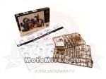 Набор фигурок ремонтного персонала мото-мастерской(4 шт)+мотоцикл BMW R-75(131 деталь,1:35) (МВ3560)