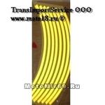 НАКЛЕЙКИ на обод колеса (светоотражающие, набор в блистере, на 2 колеса) (WS 12Y) 10-12 желтый