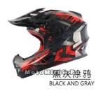 Шлем вело кроссовый CIGNA T-42, черно-красный размеры XL