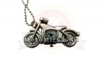 Часы-брелок в форме ретро мотоцикла (серебристого цвета)