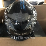 Шлем кроссовый Safelead LX-116 NEW черный с синим (Q57), черный с белым (Q84), размер L