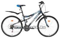 Велосипед 26 FORWARD BENFICA 1.0, (2х.подв.,18ск, рама 16,18 сталь) белый,серый,черн.крас.матовый