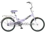 Велосипед 20'' FS-30 NOVATRACK (складной,1ск,торм.V-Brake, багаж.,зв.) сиреневый