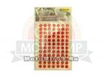 Стразы (набор кристаллов), 12x7 (=84) штук - на липкой основе, для декора авто/мото, красные