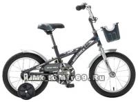 Велосипед 14'' NOVATRACK DELFI (1ск,защита А-тип,короткие крылья) 077395 серый/сереб