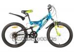 Велосипед 20 NOVATRACK SHARK (2х.подвес,1ск,МТВ,рама сталь,диск.торм.Promax) 117083 черный