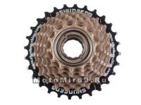 Трещотка 7 ск.SHUNFENG 14-16-18-20-22-24-28T дискретная коричневая