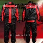 Дождевик мото TANKED TRC20 (штаны+куртка), в мешочке, материал 190T POLY TAFFETA, красный размер L