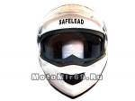 Шлем TRANSFORMER Safelead LX-119 с встр. очками, белый перламут., размер L