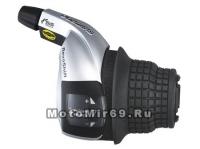 Шифтер Shimano Tourney, RS47-7R, правый, 7 скоростей, трос 2050мм, б/уп.