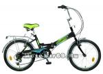 Велосипед 20'' TG-30 NOVATRACK (1ск,складной, томоз нож., широкое седло) 137230 черный